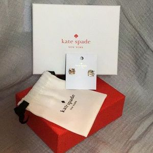 Kate Spade Earrings, with pouch and box
